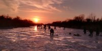 Зимняя рыбалка на Днестре в Маяках